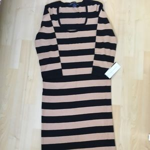 French Connection Midi Knit Dress 10 New